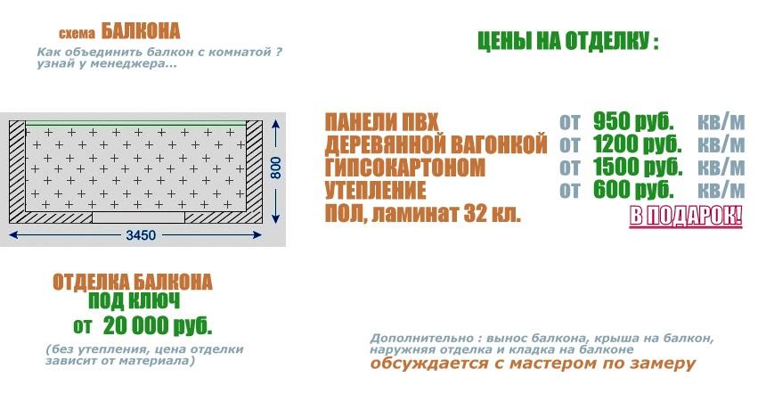 схема для балкона серии 1605(2)