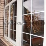 Балконный блок в частном доме .Вид с улицы.Наружняя ламинация КРЕМОВЫЙ цвет и раскладка