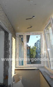 Балконы в Курске. Обшивка стен www.oknavgorode.ru
