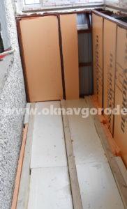 Балконы в Курске. Утепление парапета и стен www.oknavgorode.ru
