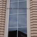 Окно частного дома.Одностворчатое с ламинацией - цвет КРЕМОВЫЙ