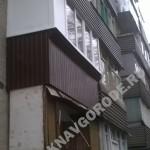 Остекление балкона с глухими вставками