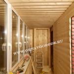 Остекление и отделка балкнов в Курске5