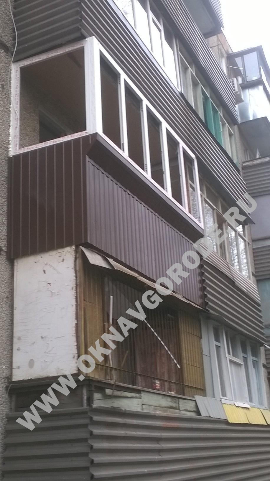 Остекление и ремонт балкона