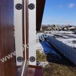 Остекление коттеджа в пос.Беседино Окна KBE 88 мм и ламинация Темный дуб и коричневые отливы