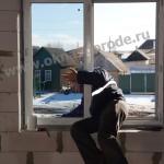 Остекление коттеджа в пос.Беседино Окна KBE 88 мм т стекло с зеркал.эффектом