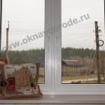 Остекление коттеджей в Курске.Белые окна и ПРЕМИУМ подоконники