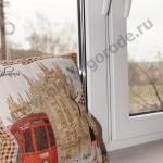 Остекление коттеджей в Курске.Белые окна и ПРЕМИУМ подоконники горная лиственница