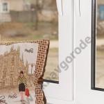 Остекление коттеджей в Курске.Белые окна подоконники премиум класса