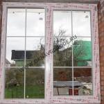 Остекление коттеджей.Двухстворчатое окно. Раскладка уравнена