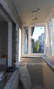 Отделка балконов. Обшивка стен www.oknavgorode.ru