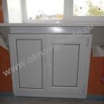 Пластиковые холодильник под окном с отделкой в Курске