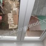Пластиковые окна в Курске белые с подоконником Меллер цвет Каррара Мрамор