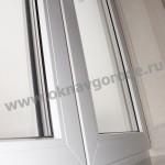 Пластиковые окна в Курске и подоконником Меллер цвет Каррара Мрамор