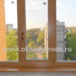 Пластиковые окна в Курске с ламинацией и цветным подоконником