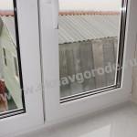Пластиковые окна в Курске с подоконником Меллер цв.Каррара Мрамор