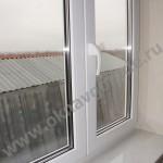 Пластиковые окна в Курске с подоконником Меллер цвет Каррара Мрамор