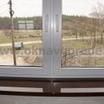 Пластиковые окна в Курске с ручками ROTO SWING и подоконниками Меллер цветом ВЕНГЕ глянец