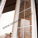 окна в частном доме с раскладкой и ламинацией