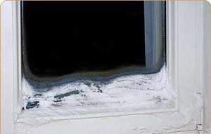 Потеют окна.Промерзание