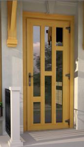 Входная дверь.Стекло и разделение