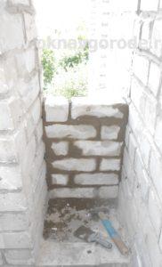 Балконы в Курске. Кирпичная кладка (3)