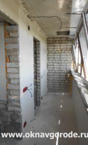 Остекление балконов. Штукатурка стен (1)