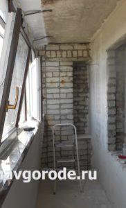 Остекление балконов. Штукатурка стен (2)