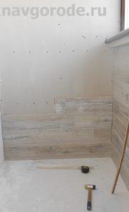 Отделка балкона Курск. Обшивка стен ламинатом (2)