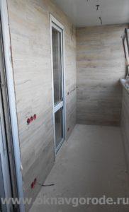 Отделка балкона Курск. Обшивка стен ламинатом (3)