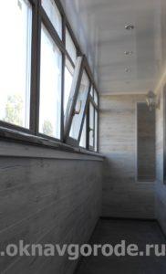 Отделка балкона. Энергосберегающие стеклопакеты