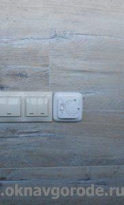 Отделка балконов в Курске. Укладка электрического теплого пола + настил ламината (4)